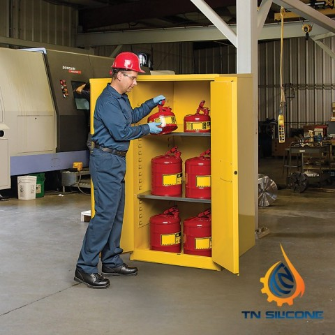 Justrite 894500 Flammable Safety Cabinet 45gallon ,2 Manual-Close Doors