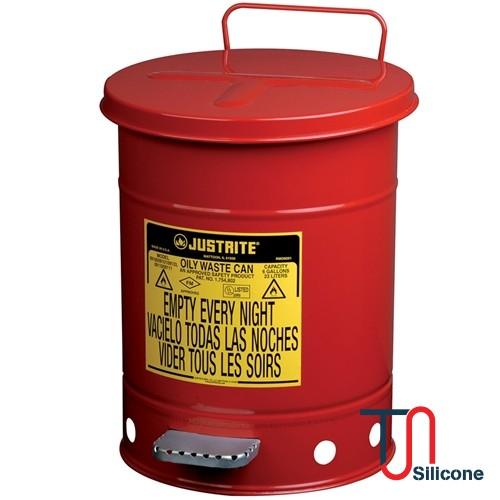 Justrite 09100 Oily Waste Can 6gallon
